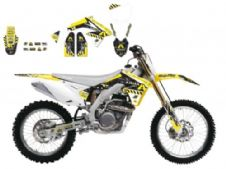 New Suzuki RMZ 450 08-17 ARMA ENERGY SERIES GRAPHIC KIT Blackbird 2316F